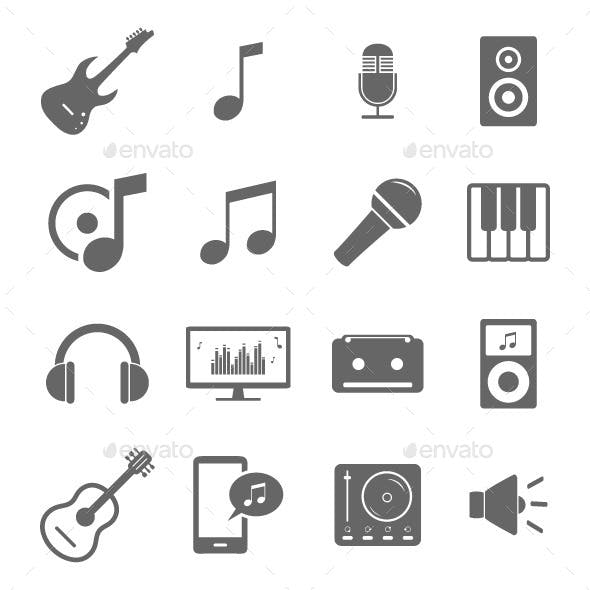 Set of Music Related Icons