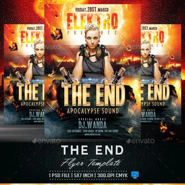 The End Flyer Template
