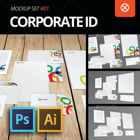 Corporate Identity Mockup PSD / AI