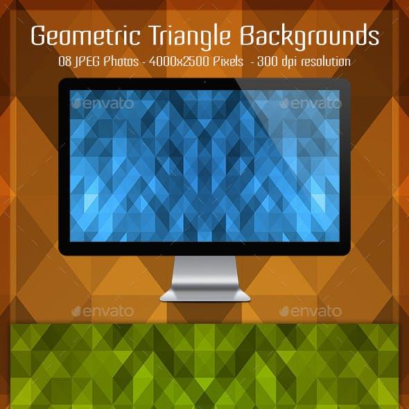 Geometric Triangle Backgrounds