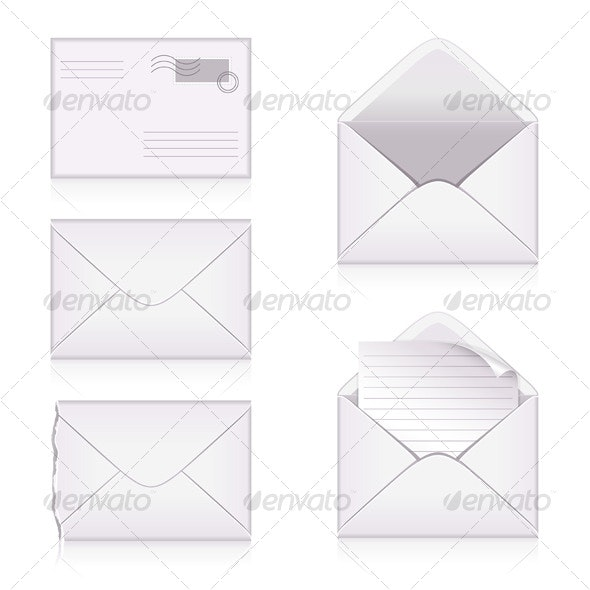 Set from  envelopes - Man-made Objects Objects