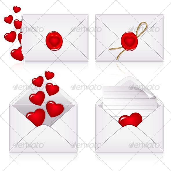 Set from envelopes - Valentines Seasons/Holidays