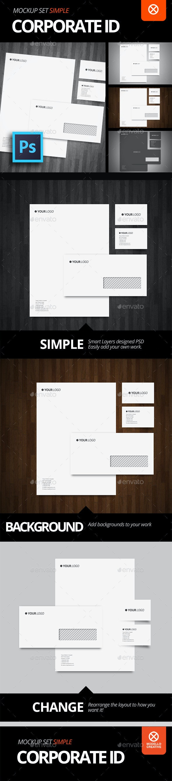 Stationery Mock-Up / Simple Identity - Stationery Print