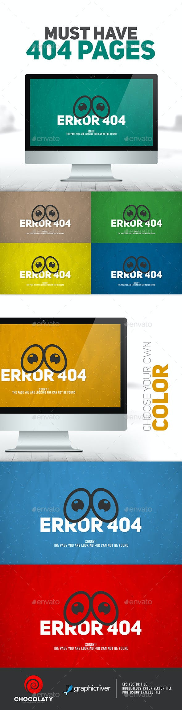 Sad Eye 404 Error Page