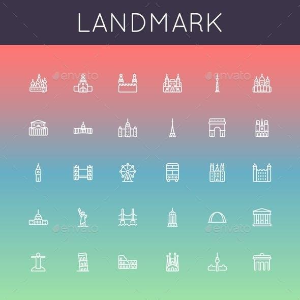Landmark Line Icons