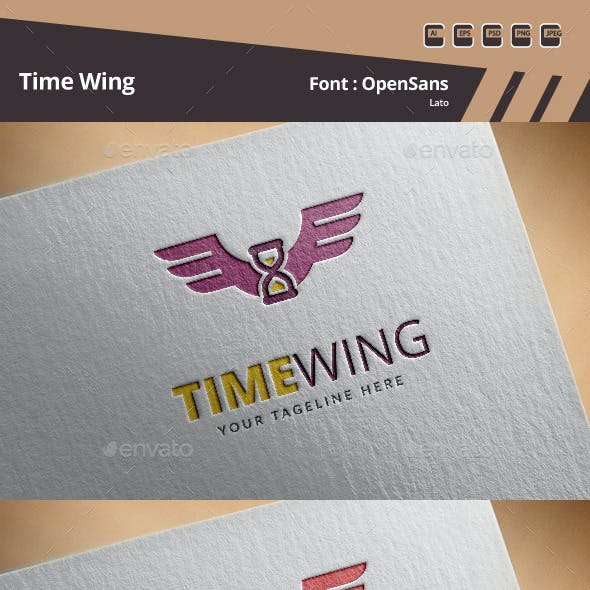 Time Wing Logo Template