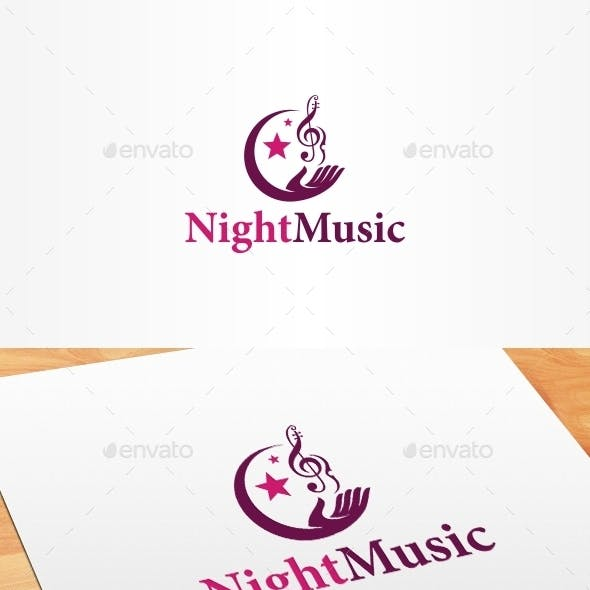Night Music Logo Template