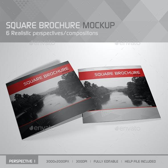 Realistic Square Brochure Mockup