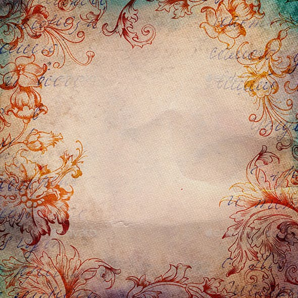 Vintage Background with Floral Ornament