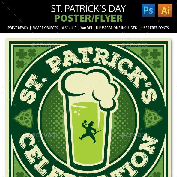 St. Patrick's Day Poster, Flyer or Ad