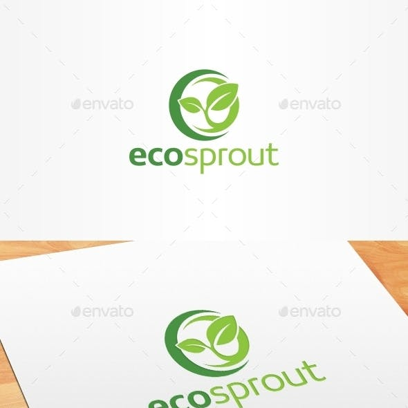Eco Sprout Logo Template