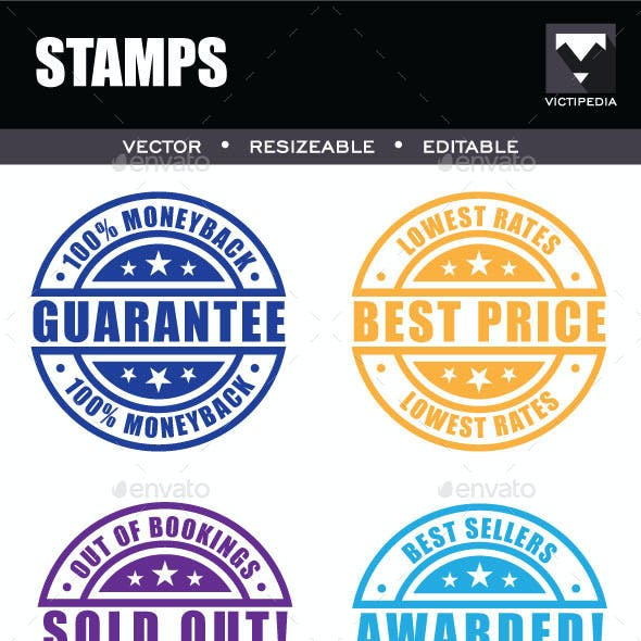 6 Different Stamps