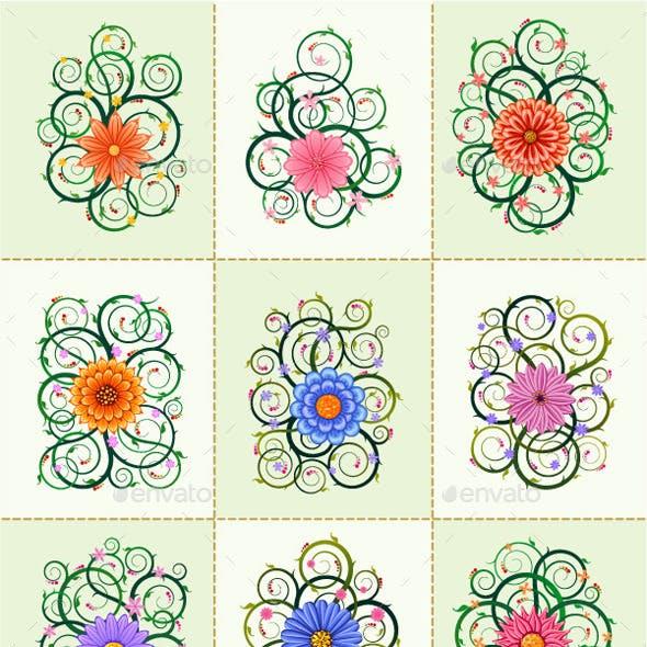 Floral Ornament Vector Bundle