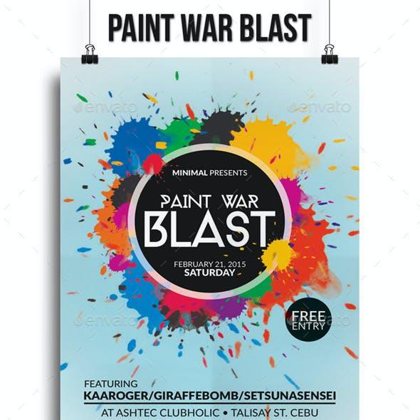 Paint War Blast Flyer