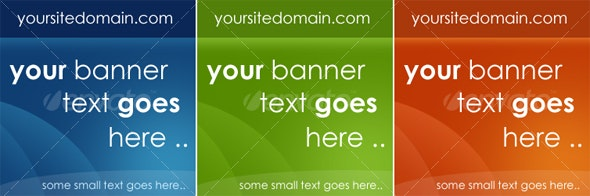 3 Colored Web 2.0 Ads Banner - Banners & Ads Web Elements