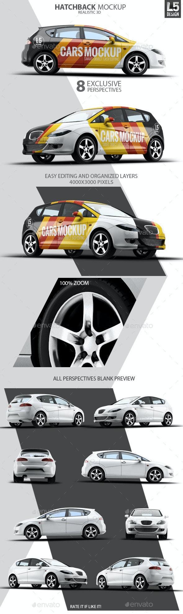 Hatchback Mock-Up - Vehicle Wraps Print