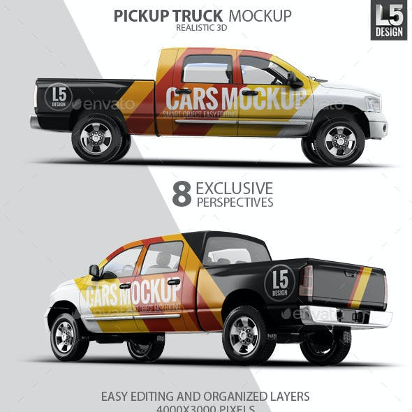 Pickup Truck Mock-Up