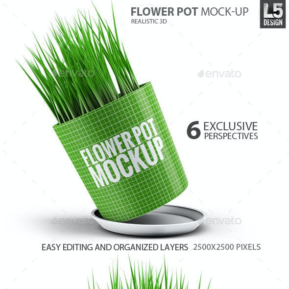 Flower Pot Mock-Up