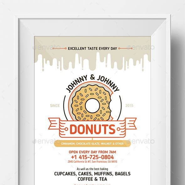 Donuts Poster Template