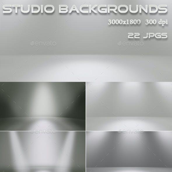 Studio Backgrounds wih Spotlights