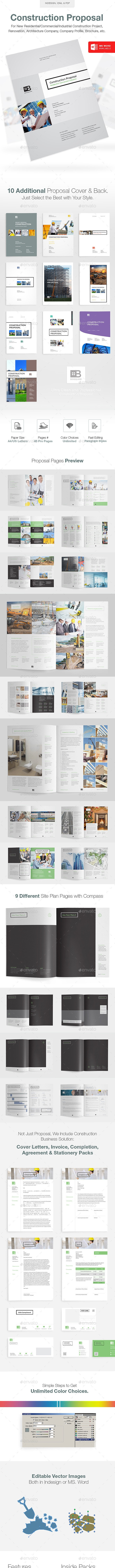 Clean Construction Proposal - Proposals & Invoices Stationery