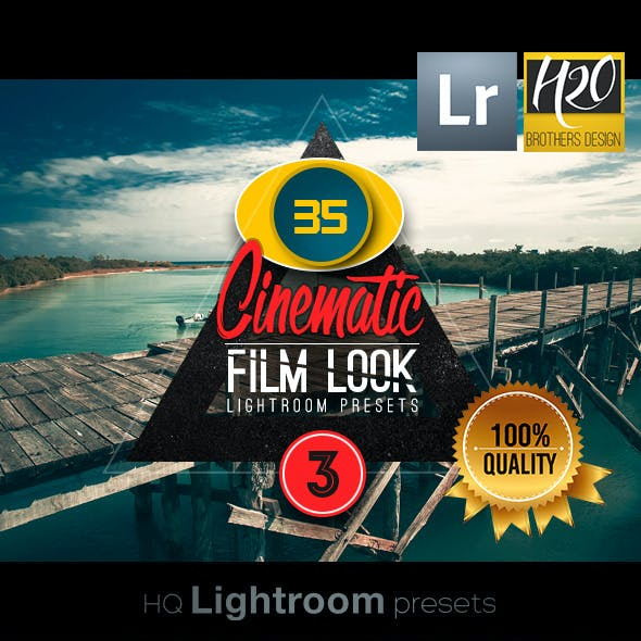 Cinematic Film Look Lightroom Presets VOL 3