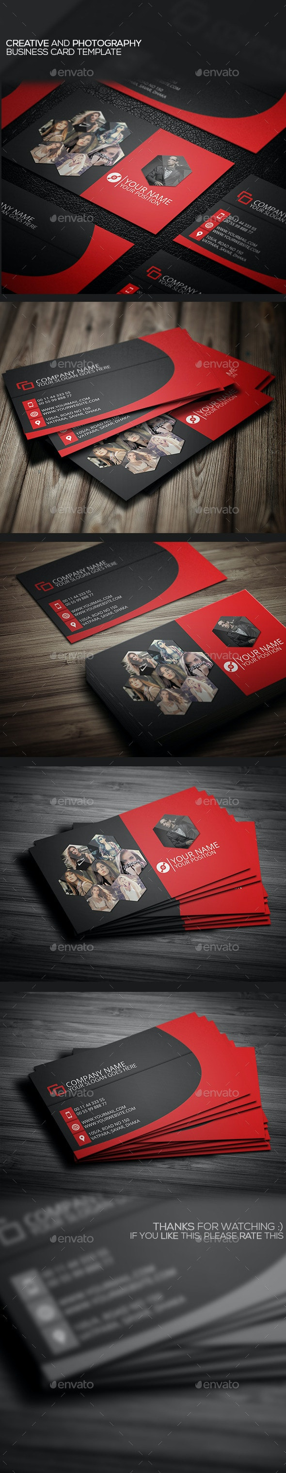 Creative And Photography Business Card Template - Creative Business Cards