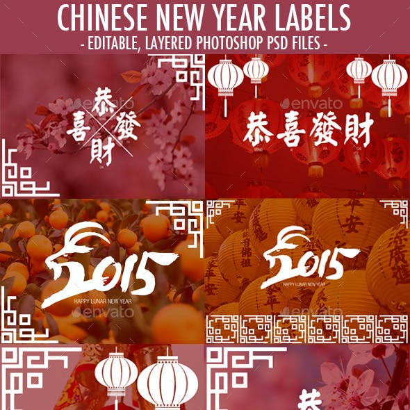 Chinese New Year Decorative Labels