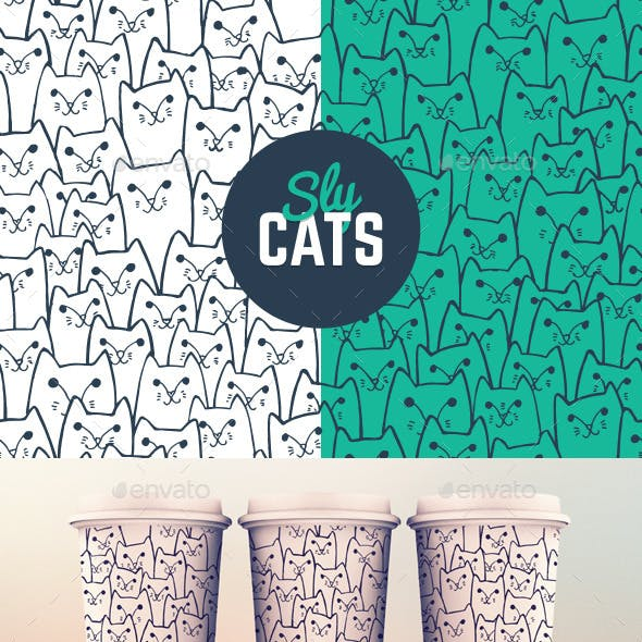 Sly Cats Pattern