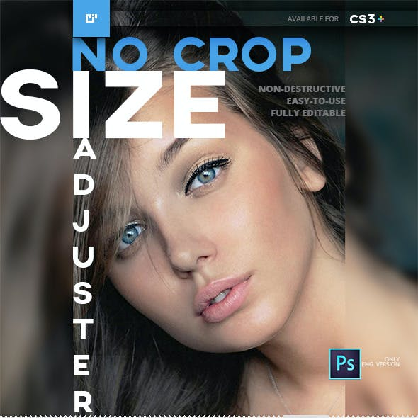 NoCrop Size Adjuster Photoshop Action