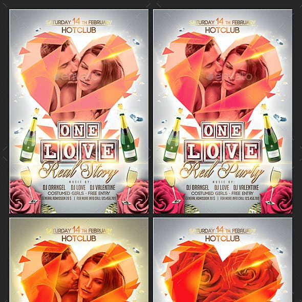 The Love Flyer + Fb Timeline Template