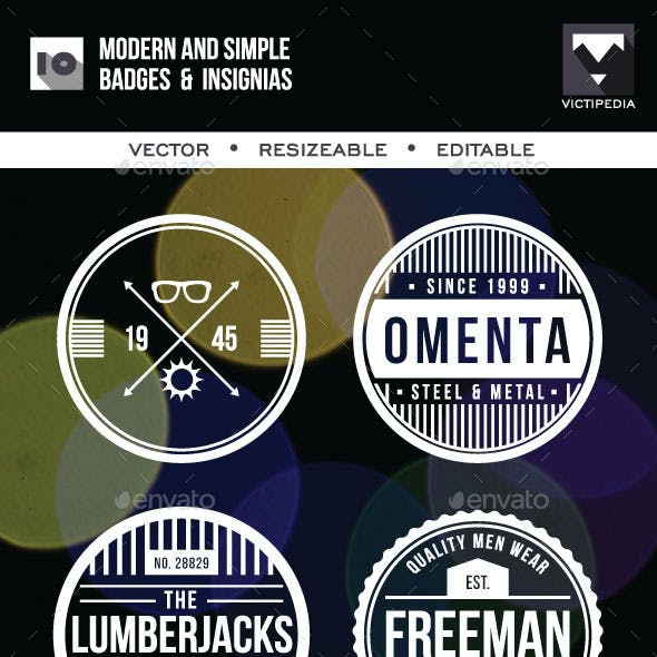 10 Modern And SImple Badges
