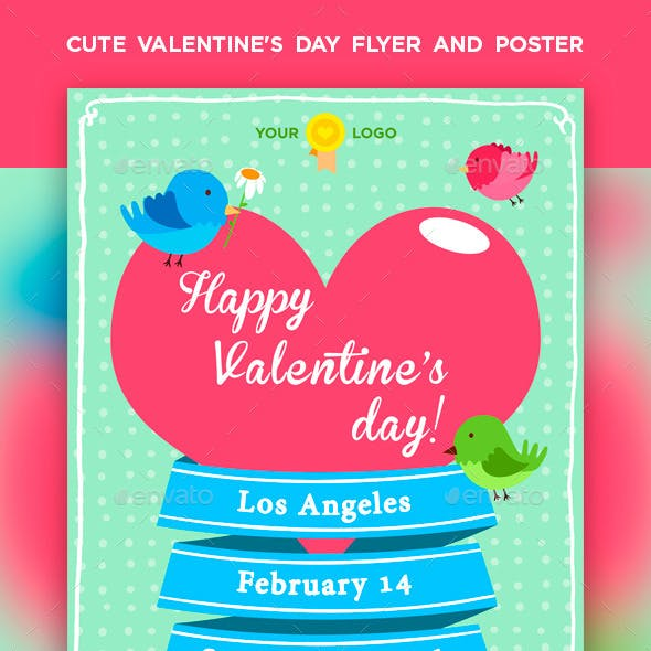 Cute Valentine's Day Flyer / Poster