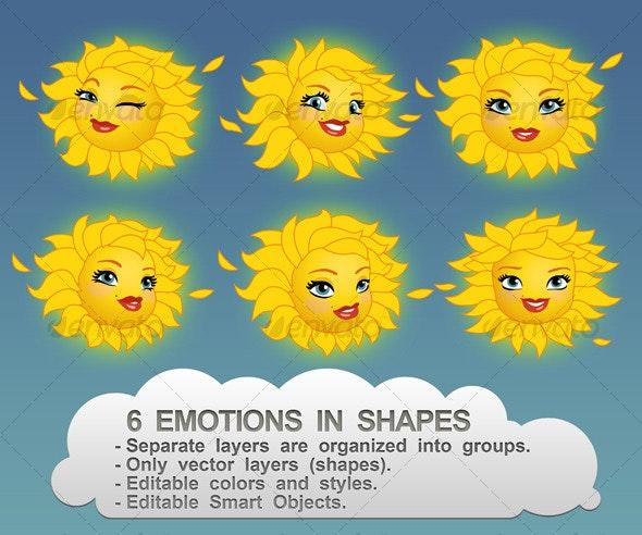 Hot Suns - Characters Illustrations