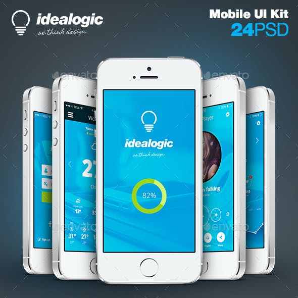 Idealogic - Flat Mobile App UI Design