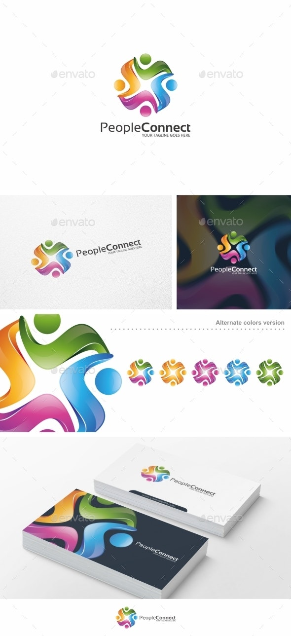 People Connect - Logo Template - Humans Logo Templates