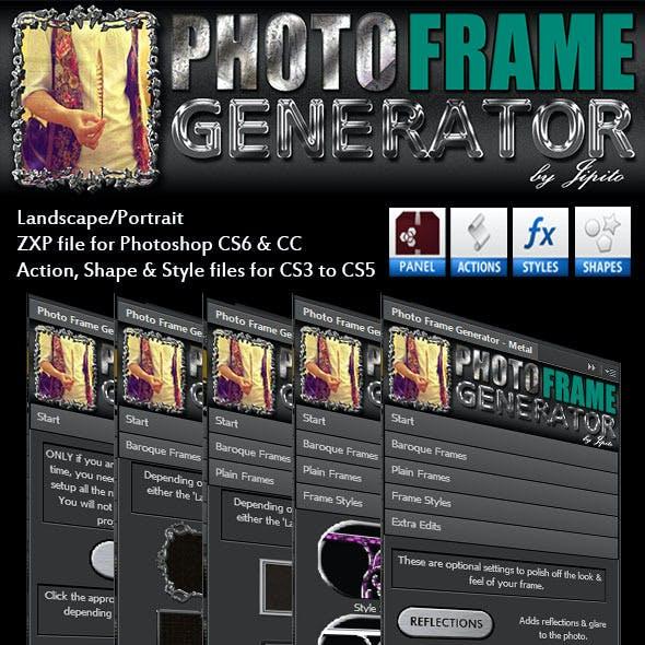 Photo Frame Generator Panel - Metal