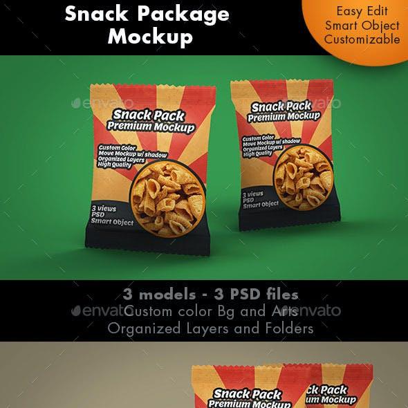 Snack Package Mockup Premium