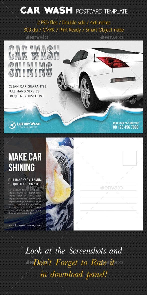 Car Wash Postcard Template - Cards & Invites Print Templates