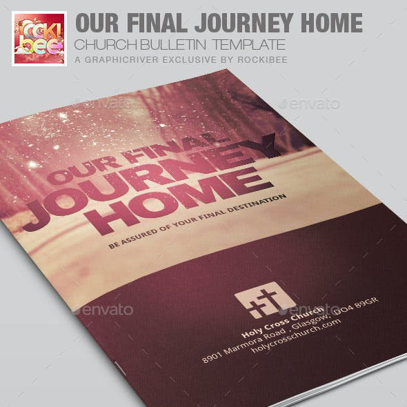 Our Final Journey Church Bulletin Template