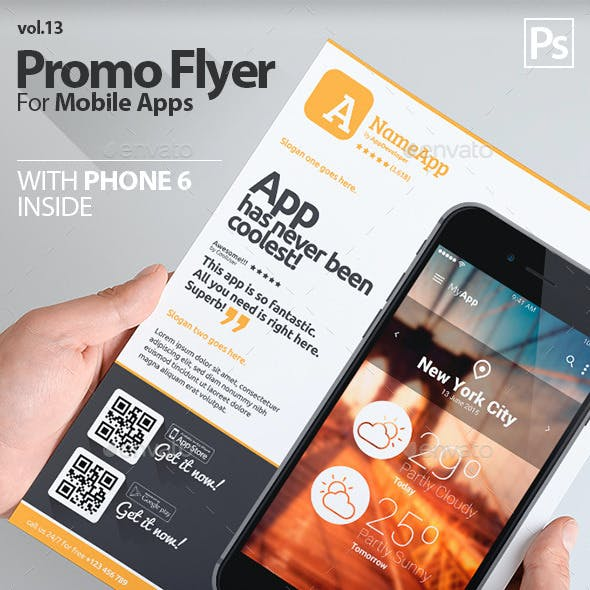 Mobile App Flyers Template 13