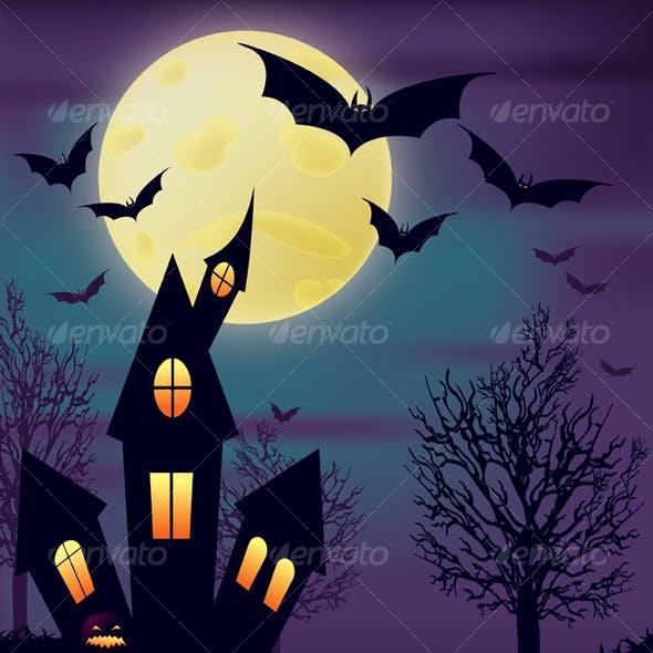 Night Halloween Scene