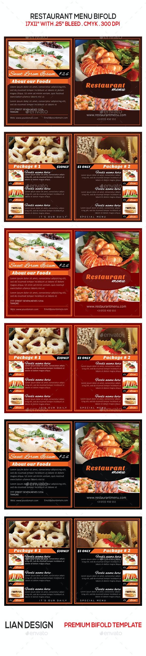 Restaurant Menu Brochure - Brochures Print Templates