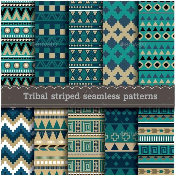 Tribal Striped Seamless Patterns