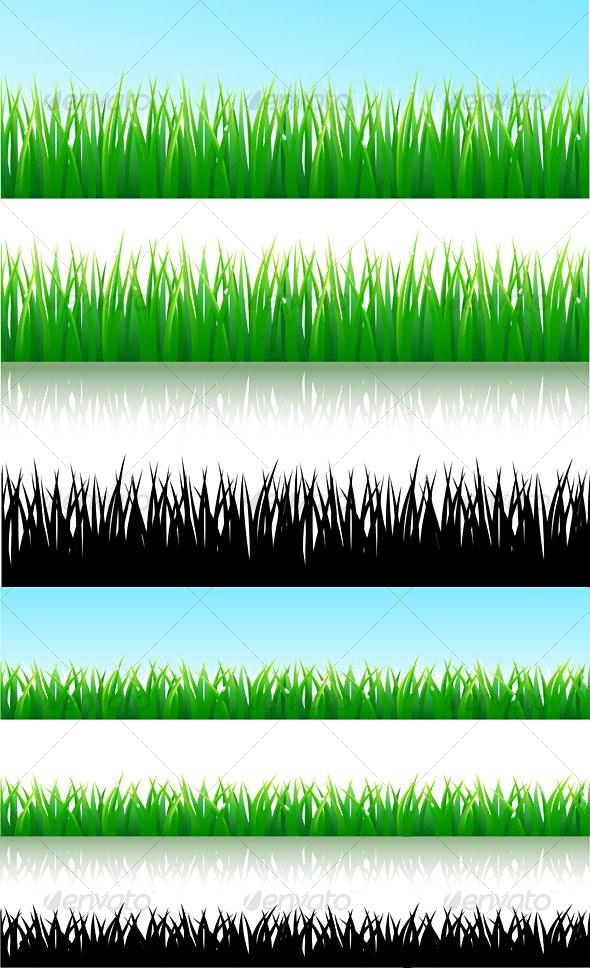 Grass background - Borders Decorative