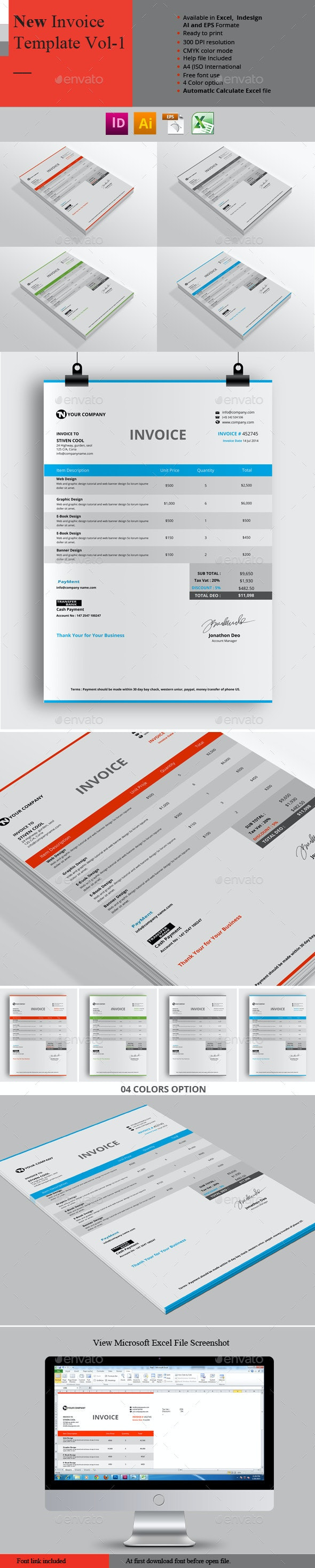 New Invoice Template Vol-1 - Proposals & Invoices Stationery