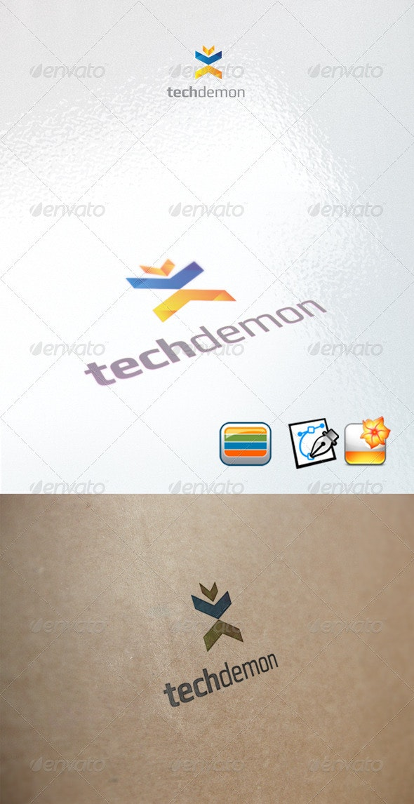 techdemon - Humans Logo Templates