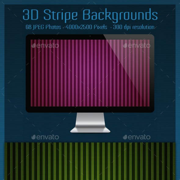 3D Stripe Backgrounds