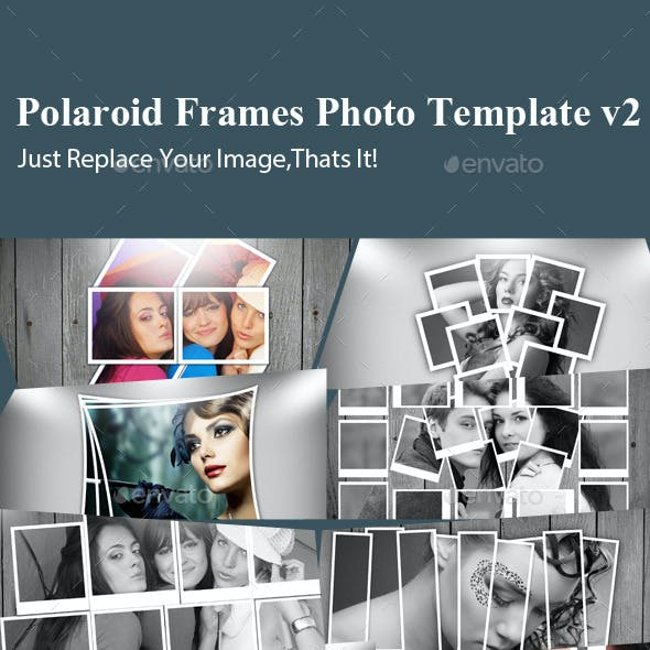 Polaroid Frames Photo Template v2