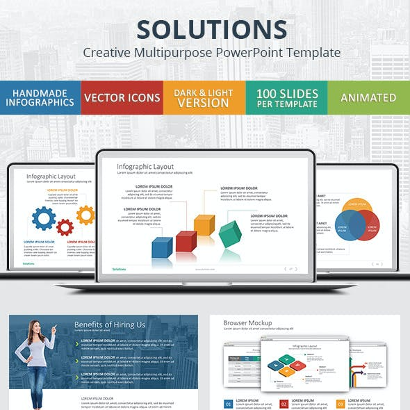 Solutions - PowerPoint Presentation Template